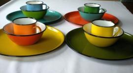 Colorful Dishes Desktop Wallpaper