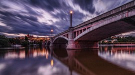 Dawn Bridge Desktop Wallpaper
