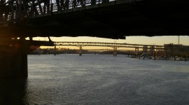 Dawn Bridge Photo Free