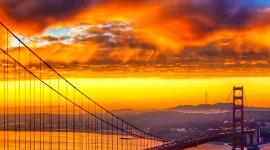 Dawn Bridge Wallpaper For IPhone