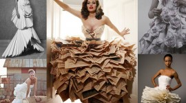 Dresses Made Of Paper Wallpaper HQ