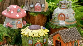 Fairy Houses Desktop Wallpaper
