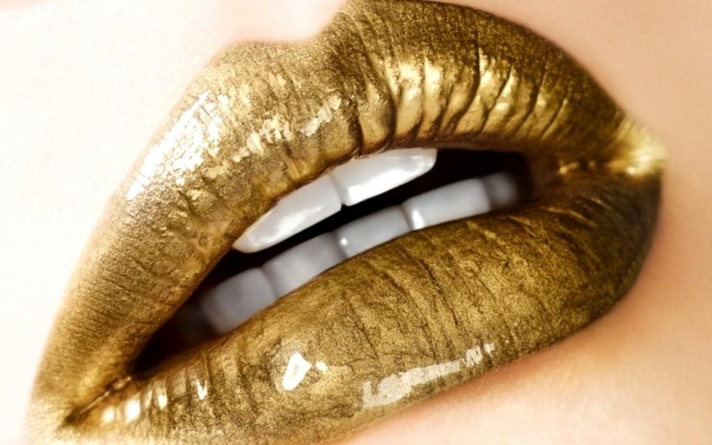 Golden Lips wallpapers HD