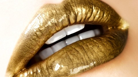 Golden Lips wallpapers high quality