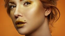 Golden Lips Photo