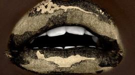 Golden Lips Photo Free
