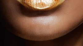 Golden Lips Wallpaper For Android