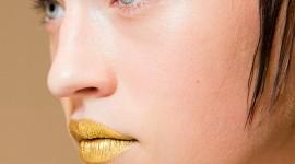 Golden Lips Wallpaper For Mobile#1