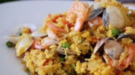 Paella With Seafood Desktop Wallpaper