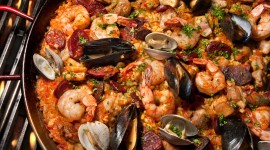 Paella With Seafood Desktop Wallpaper For PC