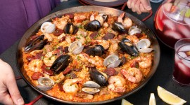 Paella With Seafood Desktop Wallpaper Free