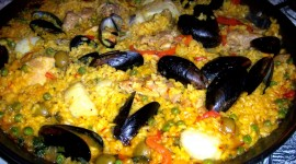 Paella With Seafood Desktop Wallpaper HQ