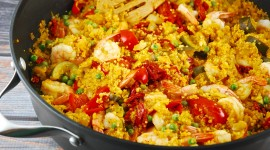 Paella With Seafood High Quality Wallpaper