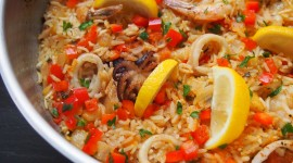 Paella With Seafood Wallpaper