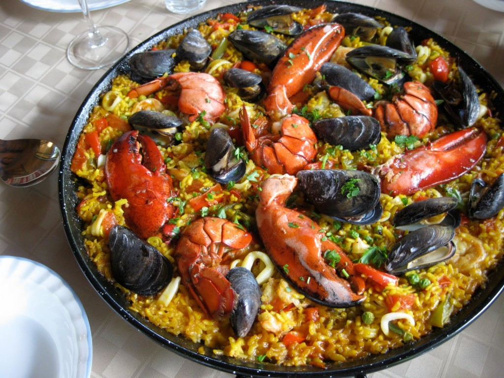 Paella With Seafood wallpapers HD