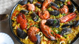 Paella With Seafood Wallpaper Background