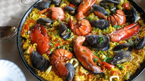 Paella With Seafood wallpapers high quality