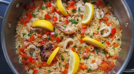 Paella With Seafood Wallpaper Download