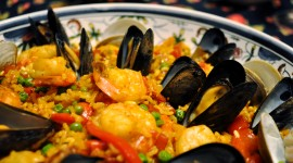 Paella With Seafood Wallpaper HQ