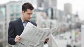 Read A Newspaper Desktop Wallpaper HD
