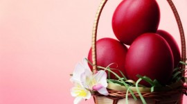 Red Easter Eggs Desktop Wallpaper HD