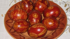 Red Easter Eggs Photo