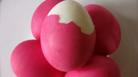 Red Easter Eggs Photo Free