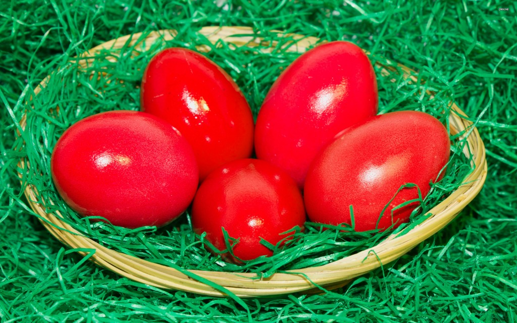 Red Easter Eggs wallpapers HD