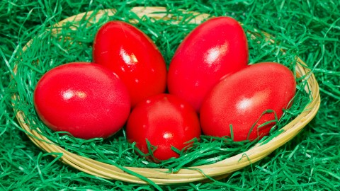 Red Easter Eggs wallpapers high quality