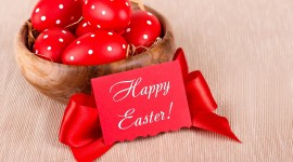 Red Easter Eggs Wallpaper Free