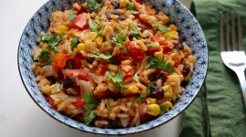 Rice In Mexican With Beans Wallpaper