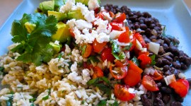 Rice In Mexican With Beans Wallpaper Download Free