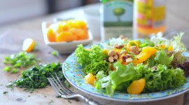 Salad From Oranges High Quality Wallpaper