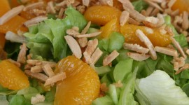 Salad From Oranges Wallpaper Download Free