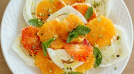 Salad From Oranges Wallpaper High Definition