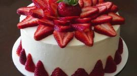 Strawberry Cake Photo Free