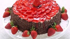 Strawberry Cake Wallpaper For Desktop
