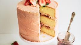 Strawberry Cake Wallpaper For Mobile#1