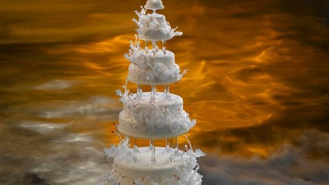 Swan Cake wallpapers high quality