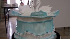 Swan Cake Wallpaper For PC