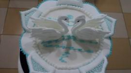 Swan Cake Wallpaper Full HD