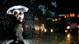 Wedding In The Rain Desktop Wallpaper