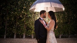 Wedding In The Rain Photo