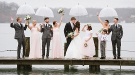 Wedding In The Rain Wallpaper Background