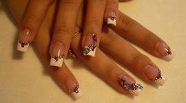 4K Rhinestone Nails Photo