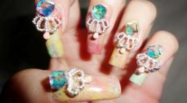 4K Rhinestone Nails Photo Download