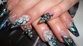 4K Rhinestone Nails Photo Free
