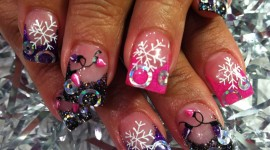 4K Rhinestone Nails Photo Free#1