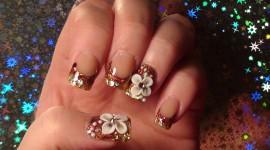 4K Rhinestone Nails Wallpaper