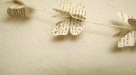 Butterfly Garland Desktop Wallpaper For PC